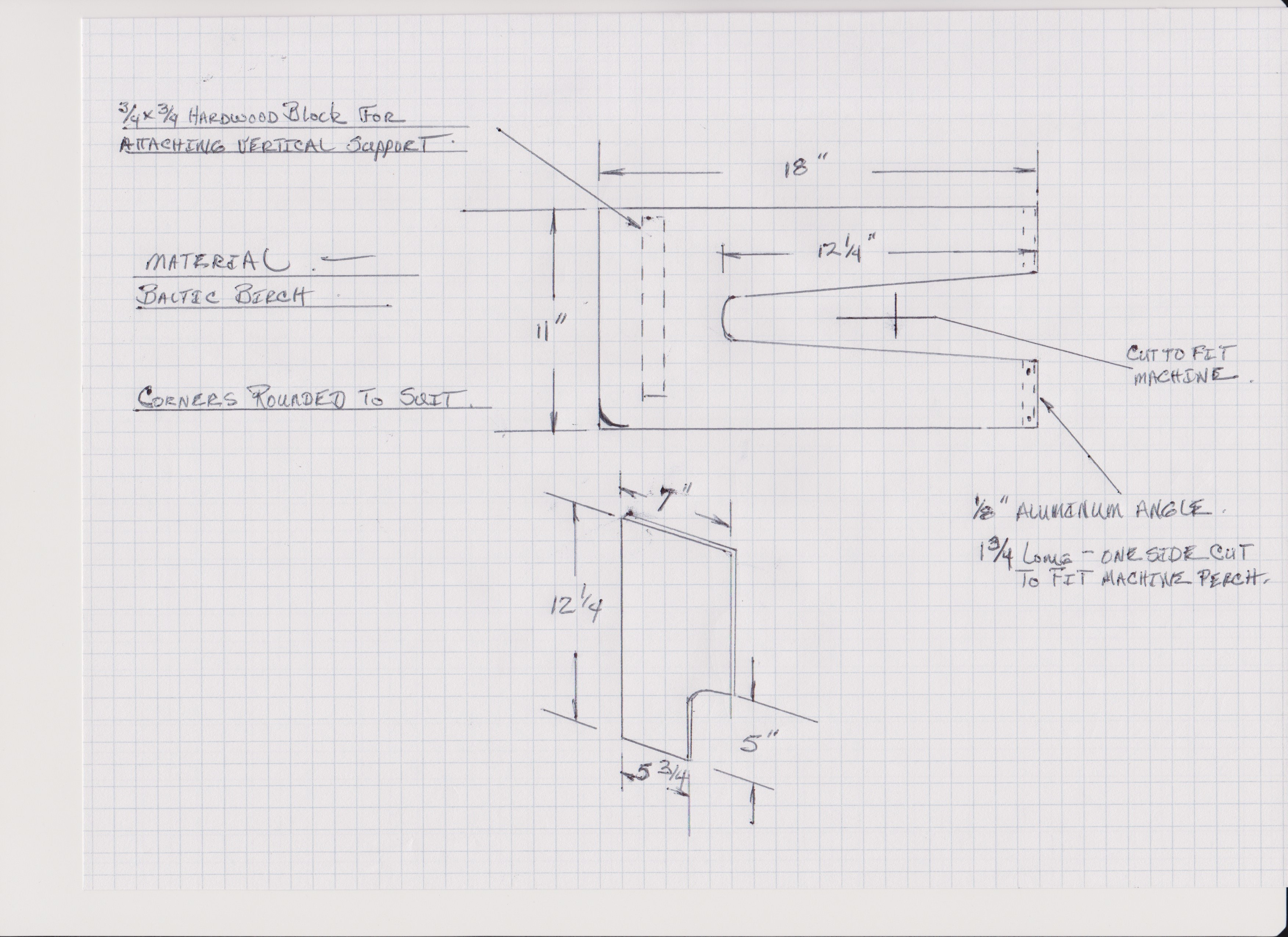 Singer 29 4 2018 Rick Averills Home Page Pedal Wiring Diagram Basic Table Plans Measurement Are Taken From My Machine