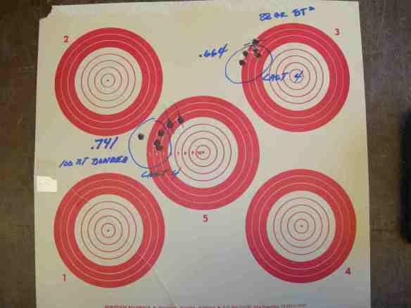 Inital test target