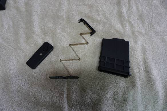 Magazine disassembled